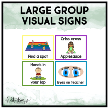 Large Group Visual Signs