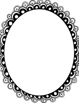 Large Hand Drawn Oval Borders Commercial and Personal Use