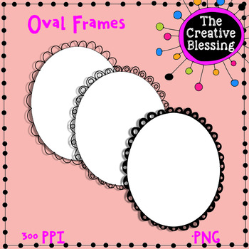 Large Oval Borders Clip Art