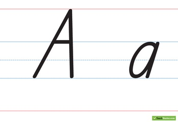 Large Handwriting Chart – Capital & Lower Case - South Aus