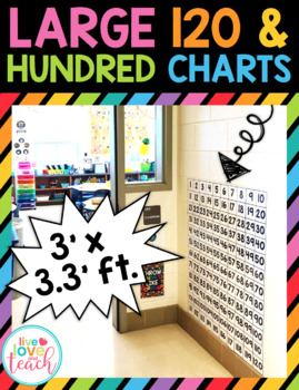 Large 120 and Hundred Charts