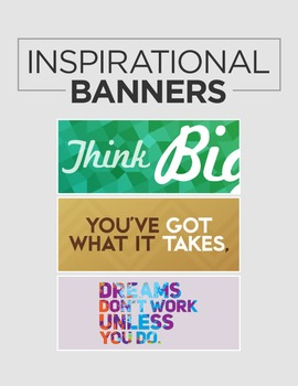 Large Inspirational Classroom Banners
