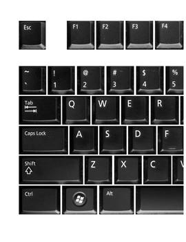 Large Keyboard Dell Black