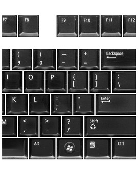 Large Keyboard Dell Black