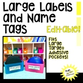 Large Labels and Name Tags