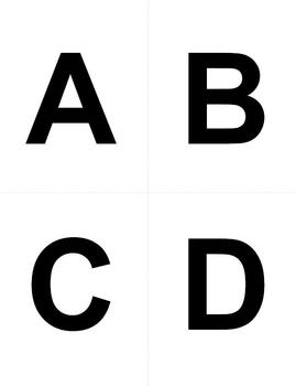 Large Letter & Punctuation Cards to use with your Common Core ELA Activities