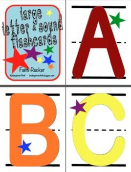 Large Letter and Sound Flash Cards (Blank)
