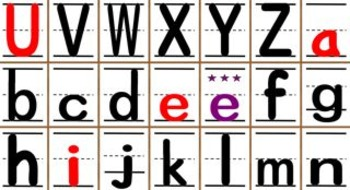 Large Letter and Sound Flash Cards (Blank - Color Coded)