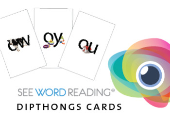 Large Letter and Sound Flash Cards - Diphthongs with Photographic Style Images