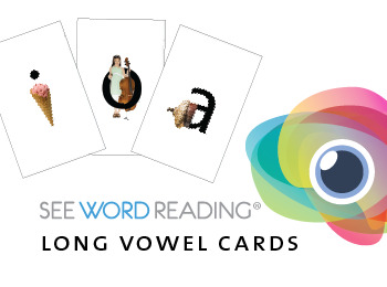Large Letter and Sound Flash Cards - Long Vowels with Photo-realistic Images