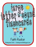 Large Letter and Sound Flash Cards with Stick Kids