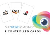 Large Letter and Sound Flashcards - R Controlled Vowels wi