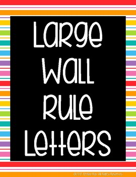 Large Letters for Class Rules