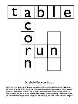 Large Letters for Scrabble Bulletin Board