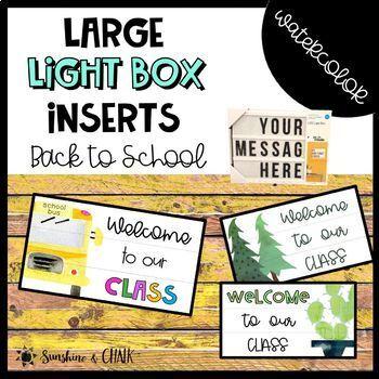 Large Light Box - Back to School Inserts Freebie