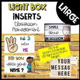 Large Light Box - Classroom Management Inserts