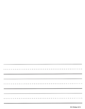 Large Lined Storybook Paper