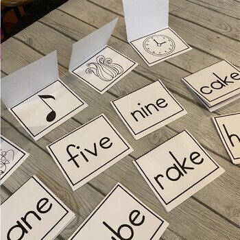Large Long Vowel Word Cards (Read, Flip, & Check) 38 Cards