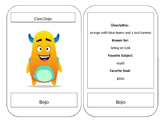 Large Monster Cards (Class Dojo themed)