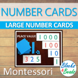 Montessori: Large Number Cards/Place Value Cards