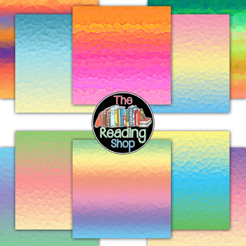 Large Mosaic Digital Paper Backgrounds