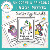 Large Motor Activities for Preschool Unicorns & Rainbows I
