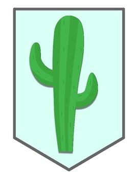 Large No Prob-Llama Banner Pennant, Cactus and Llama Decor