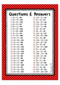Large Number Addition & Subtraction Bingo