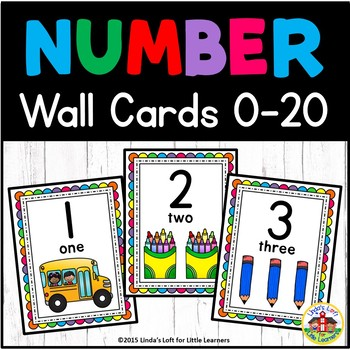 Bulletin Board Number Wall Cards 0 to 20