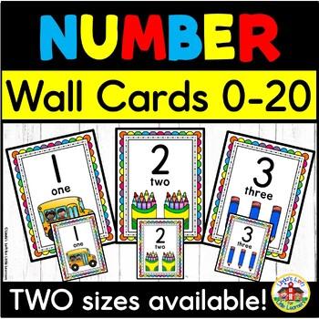 Preschool Number Cards (0 to 12)