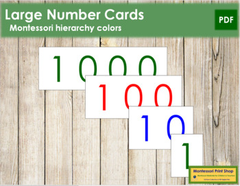 Large Number Cards