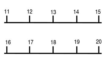 Large Number Line 1-100