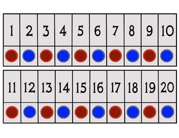 Large Number Line 1-20