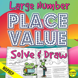 4th Grade Large Number Place Value Color by Answer Activity