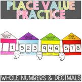 Decimals| Multi-digit | Place Value Chart & Activity | Printable & Digital