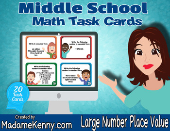 Large Number Place Value Task Cards