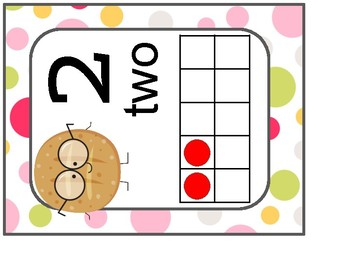 Large Number Posters 1-20 with Tens Frames- Smart Cookies Classroom Theme