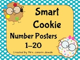 Large Number Posters 1-20 with Tens Frames- Smart Cookies