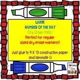 Large Number of the Day Dry Erase Mats