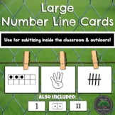 Large Numberline Cards 1-20 Subitizing & Number Sense - Indoor Outdoor Learning