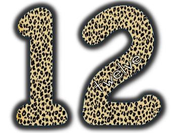 Large Numbers 10-20 Safari / Jungle Theme
