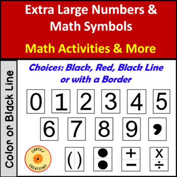 Large Numbers: Digits 0-9