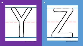Large Outlined Tracing Letters