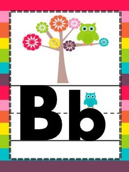 Large Owl Alphabet