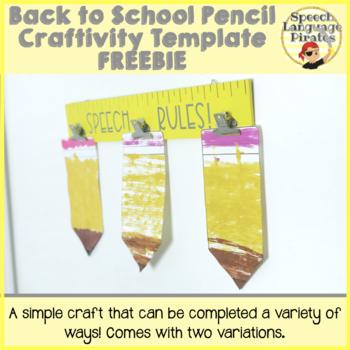 Back to School Pencil Craft FREEBIE