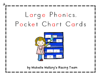 Large Phonics Pocket Chart Cards