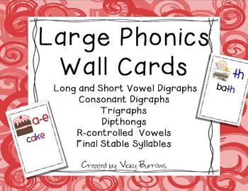 Large Phonics Wall Cards