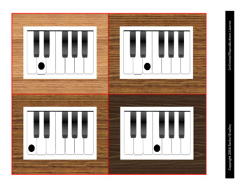 Large Piano Cards--Alphabet, Keyboard, and Staff