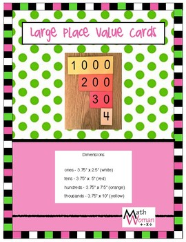 Large Place Value Cards (Ones to Thousands)