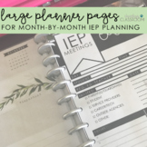Large Planner Pages | For IEP Meetings